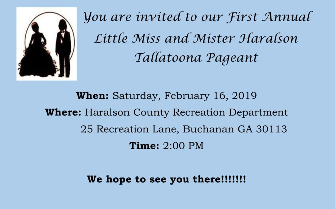 Little Miss and Mister Haralson Tallatoona Pageant
